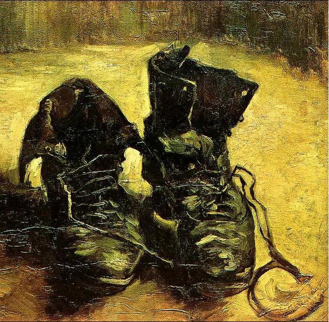 کفش های پاره - ون گوگ