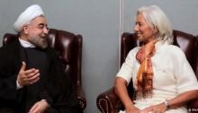 دیدار روحانی با رئیس صندوق بین المللی پول